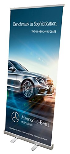 Signworld 33 Retractable Roll Up Banner Stand Display