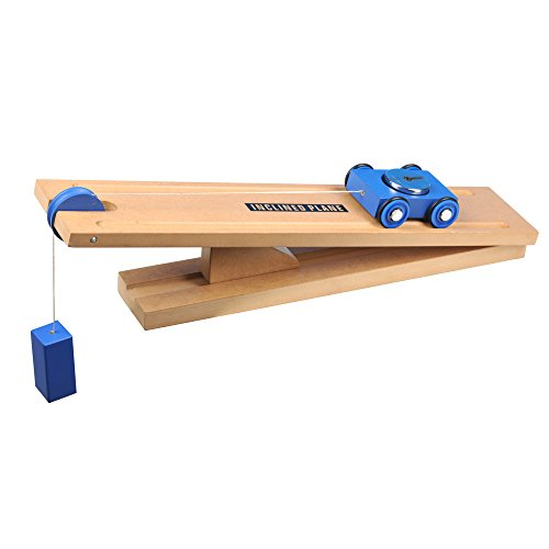 Simple-Wooden-Machine-Inclined-Plane-and-Cart-Model-0