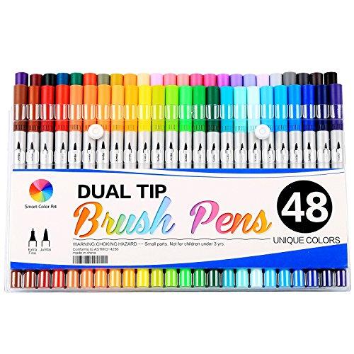 Smart-Color-Art-Dual-Tip-Brush-Pens-with-Fineliner-Tip-04-Art-Marker-48-Unique-Colors-0