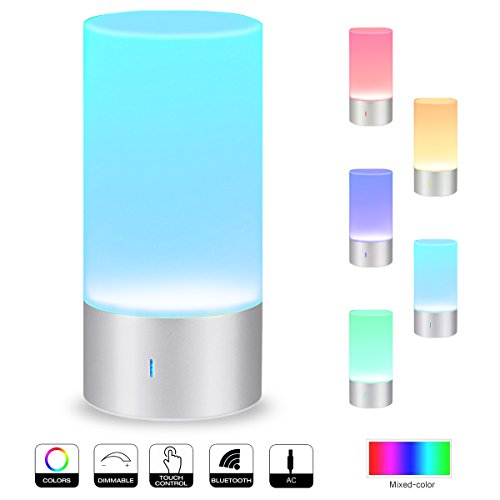 Smart-Touch-Table-Lamp-with-Bluetooth-speaker-AONOKOY-Touch-Sensor-Bedside-Lamp-Night-Light-Support-Warm-White-Light-Dimmable-RGB-Color-Change-for-Home-Party-Wedding-0
