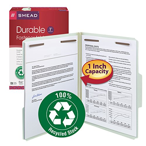 Smead-100-Recycled-Pressboard-Fastener-File-Folder-13-Cut-Tab-1-Expansion-Letter-Size-GrayGreen-25-per-Box-15003-0-0
