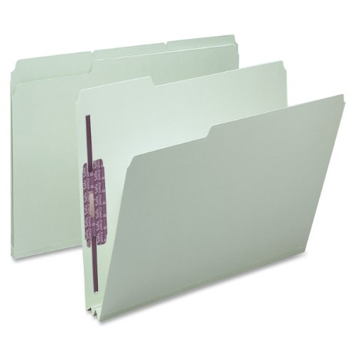Smead-Pressboard-File-Folder-with-SafeSHIELD-Fasteners-2-Fasteners-13-Cut-Tab-2-Expansion-Letter-Size-GrayGreen-25-per-Box-14934-0