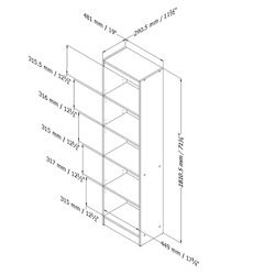 South-Shore-Axess-Collection-5-Shelf-Narrow-Bookcase-0-0