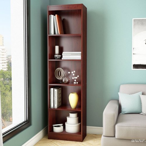 South-Shore-Axess-Collection-5-Shelf-Narrow-Bookcase-0