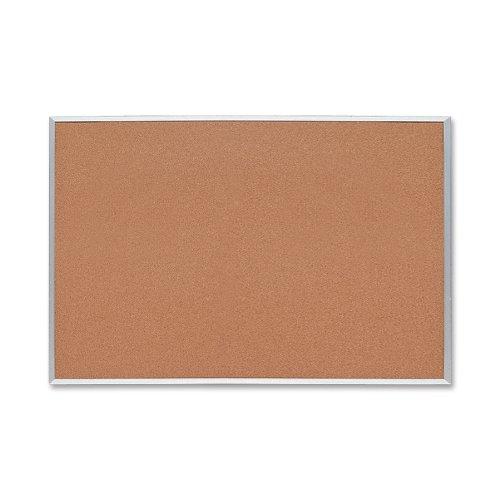 Sparco-Cork-Board-12-Inches-Thick-4-x-3-Feet-Aluminum-Frame-SPR19765-0