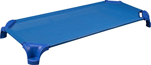 Sprogs-SPG-16137-BL-SO-Heavy-Duty-Stackable-Daycare-Cot-Standard-5-Height-23-Width-52-Length-Blue-Pack-of-6-0-0
