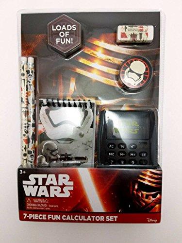 Star-Wars-School-Supply-Set-Bundle-With-Pencils-Calculator-Notebooks-Eraser-Sharpener-and-Sticker-Book-0-0