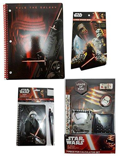 Star-Wars-School-Supply-Set-Bundle-With-Pencils-Calculator-Notebooks-Eraser-Sharpener-and-Sticker-Book-0