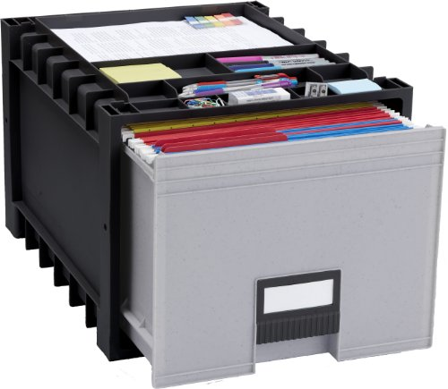 Storex-Plastic-Archive-Storage-Box-LetterLegal-24-Inch-Drawer-Black-61106U01C-0-0