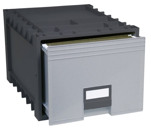 Storex-Plastic-Archive-Storage-Box-LetterLegal-24-Inch-Drawer-Black-61106U01C-0