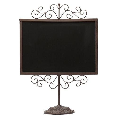 Stylish-Vintage-Metal-Frame-Semi-Permanent-Chalkboard-Display-Sign-Stand-0-0