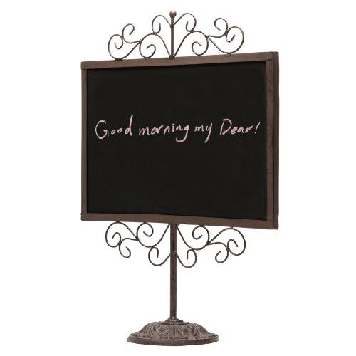 Stylish-Vintage-Metal-Frame-Semi-Permanent-Chalkboard-Display-Sign-Stand-0-1