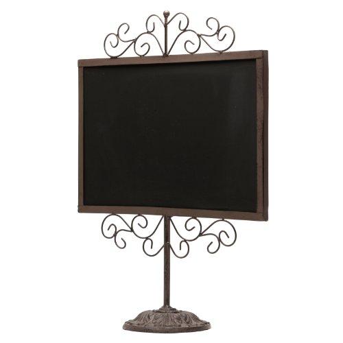 Stylish-Vintage-Metal-Frame-Semi-Permanent-Chalkboard-Display-Sign-Stand-0