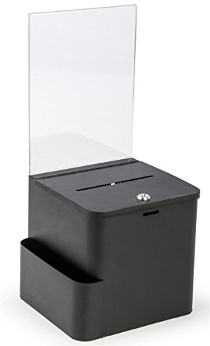 Suggestion-and-Ballot-Box-Lock-and-Key-Includes-Pocket-For-Envelopes-85-x-11-Sign-Holder-Metal-0-0