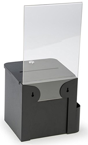 Suggestion-and-Ballot-Box-Lock-and-Key-Includes-Pocket-For-Envelopes-85-x-11-Sign-Holder-Metal-0-1