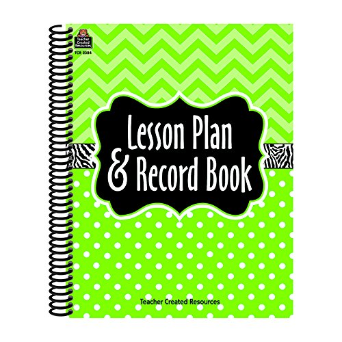 TEACHER-CREATED-RESOURCES-LIME-CHEVRONS-AND-DOTS-LESSON-PLAN-Set-of-6-0