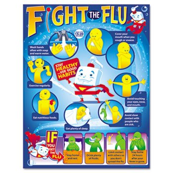 TREND-T38333P-Fight-the-Flu-Learning-Chart-Motivational-Print-17-x-22-12Pack-TEPT38333P-0