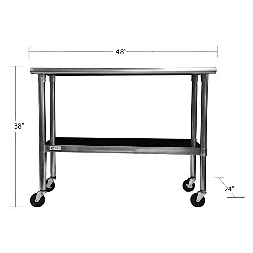 TRINITY-EcoStorage-48-in-NSF-Stainless-Steel-Prep-Table-with-Wheels-0-0