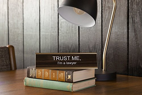 TRUST-ME-Im-a-lawyer-Engraved-Office-NameplatePlaque-2-x-8-Brown-and-Gold-0-0