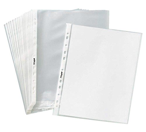 TYH Supplies Economy 11 Hole Clear Sheet Protectors, 8-1/2