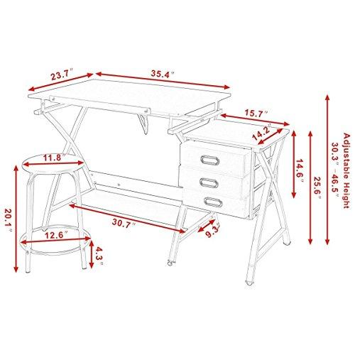 Tangkula-Drafting-Table-Art-Craft-Drawing-Desk-Art-Hobby-Folding-Adjustable-w-Stool-0-4