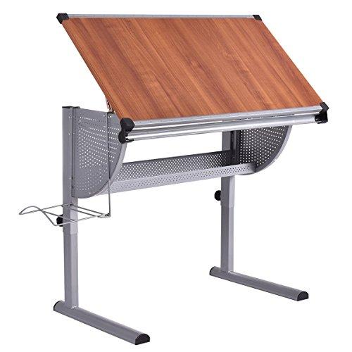 Tangkula Drafting Table Drawing Desk Adjustable Art  Craft Hobby