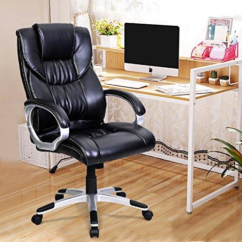Tangkula-High-Back-PU-Leather-Swivel-Office-Chair-0-0