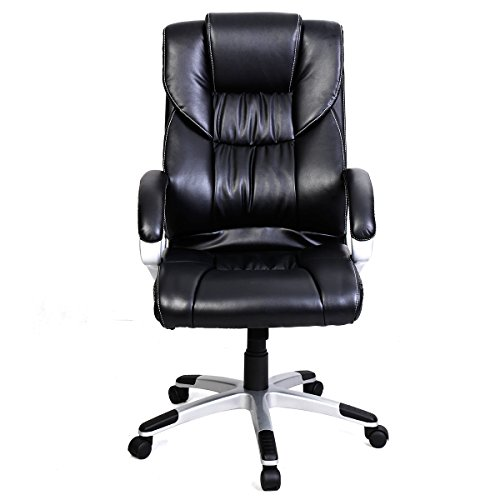 Tangkula-High-Back-PU-Leather-Swivel-Office-Chair-0-1