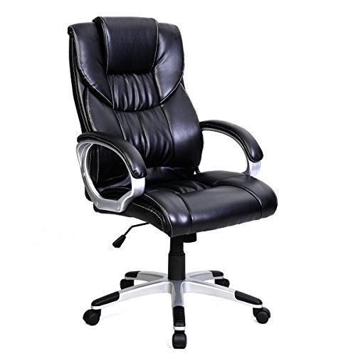 Tangkula-High-Back-PU-Leather-Swivel-Office-Chair-0