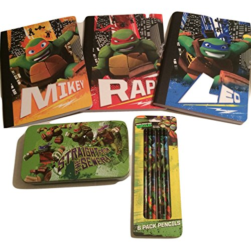 Teenage-Mutant-Ninja-Turtles-School-Supply-Bundle-Teenage-Mutant-Ninja-Turtles-Themed-Wide-Ruled-Composition-Books-Storage-Pencil-Box-and-Pencils-5-Items-Total-0