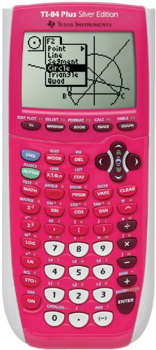 Texas Instrument 84 Plus Silver Edition Graphing Calculator Full Pink In Color Packaging May Vary