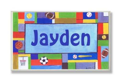 The-Kids-Room-Contemporary-Sports-Personalized-Rectangle-Plaque-0-0