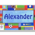 The-Kids-Room-Contemporary-Sports-Personalized-Rectangle-Plaque-0