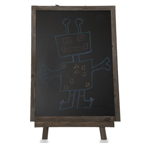 The-Lucky-Clover-Trading-Wooden-Chalkboard-with-Easel-Rustic-Brown-0