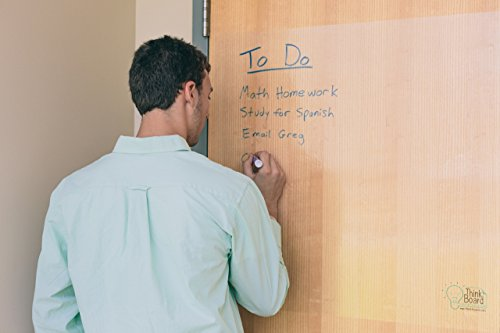 Think-Board-Premium-Clear-Peel-Stick-Dry-Erase-Board-Film-Marker-and-Cleaning-Spray-included-24×36-0