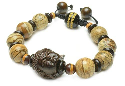 Tibetan-Buddhist-Mercy-Buddha-Mala-Prayer-Landscape-Jasper-Beaded-Bracelet-Feng-Shui-Energy-Bracelet-0-0