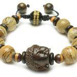 Tibetan-Buddhist-Mercy-Buddha-Mala-Prayer-Landscape-Jasper-Beaded-Bracelet-Feng-Shui-Energy-Bracelet-0