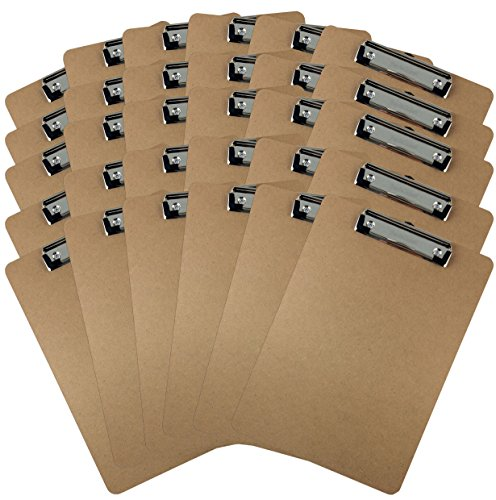 Trade-Quest-Letter-Size-Clipboard-Low-Profile-Clip-Hardboard-Pack-of-30-0