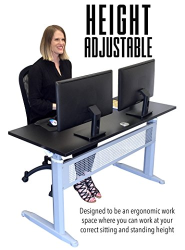 Transcendesk-Standing-Desk-55-inch-Long-Easily-Crank-from-Sitting-to-Standing-Black-Top-Silver-Frame-0-0