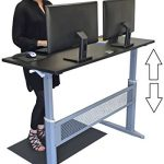Transcendesk-Standing-Desk-55-inch-Long-Easily-Crank-from-Sitting-to-Standing-Black-Top-Silver-Frame-0