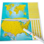 True-North-Maps-Scratch-Off-World-US-Travel-Tracker-Map-Set-Scratch-Countries-and-Flags-with-Precision-Pen-0