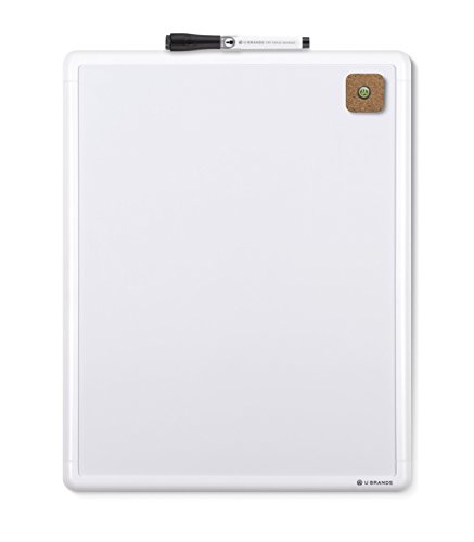 U-Brands-Contempo-Magnetic-Dry-Erase-Board-11-x-14-Inches-White-Frame-0