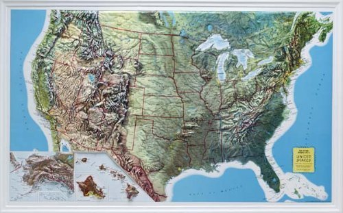 US-Raised-Relief-Topographical-Map-3D-Rand-McNally-0