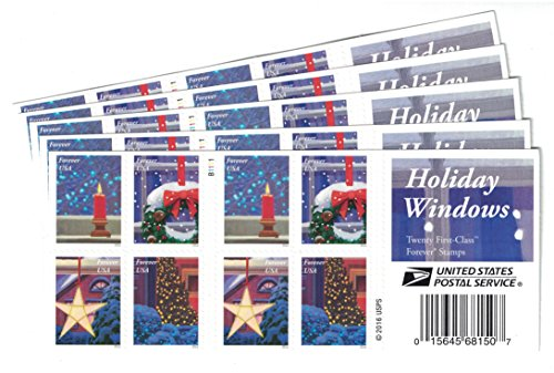 USPS-Holiday-Windows-Forever-Stamps-Book-of-20-0