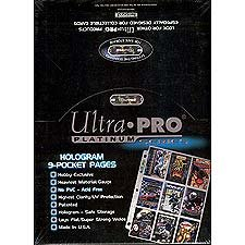 Ultra-Pro-BLUE-Football-Card-Album-3-Inch-D-Ring-Binder-and-a-Sealed-Box-of-9-Pocket-Storage-Sheets-100-Pages-0-0