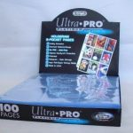 Ultra-Pro-BLUE-Football-Card-Album-3-Inch-D-Ring-Binder-and-a-Sealed-Box-of-9-Pocket-Storage-Sheets-100-Pages-0-1