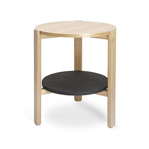 Umbra Hub Side Table Black Natural Office Supply