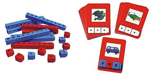 Unifix-Letter-Cubes-ConsonantVowel-Set-and-CVC-Word-Building-Card-Bundle-2-Items-0