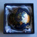 Unique-Art-3-Inch-Bahama-Blue-Pearl-Swirl-Ocean-Gemstone-World-Globe-Paper-Weight-0-0