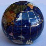 Unique-Art-3-Inch-Bahama-Blue-Pearl-Swirl-Ocean-Gemstone-World-Globe-Paper-Weight-0-1